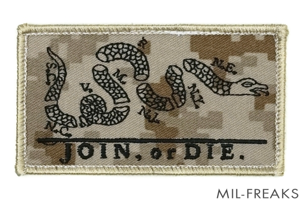 "BritKitUSA NSW ""JOIN, or DIE"" パッチ AOR1 実物生地使用"
