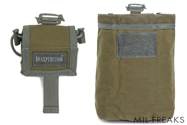 Maxpedition Rollypoly MM フォールディング ダンプポーチ カーキ / フォリッジ
